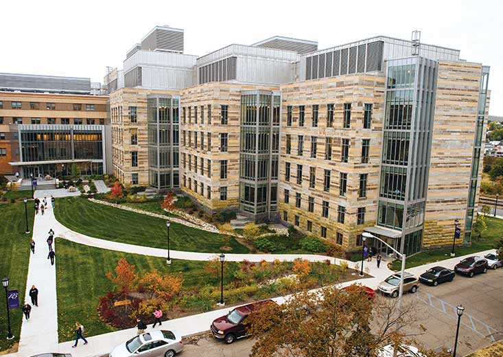 Areal view of a part of the University of Scranton Campus.