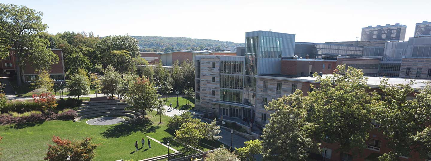 Areal view of Dionne Green at the University of Scranton.